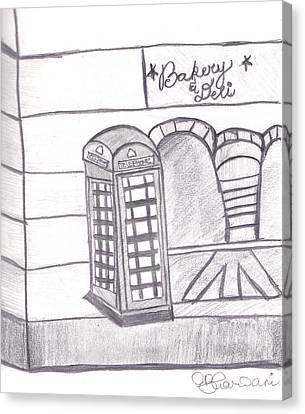 British Telephone Booth   Canvas Print by Melissa Vijay Bharwani