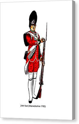 British Uniforms Canvas Print by Valiant Knight