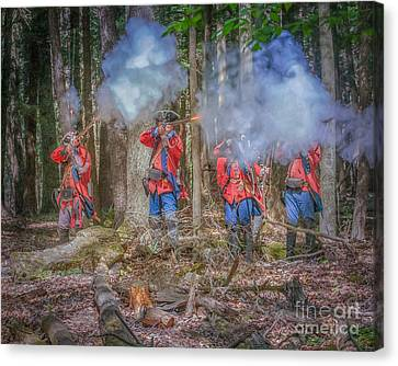 British Volley Fire Cook Forest Canvas Print by Randy Steele