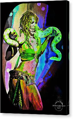 Britney Neon Dancer Canvas Print by Absinthe Art By Michelle LeAnn Scott