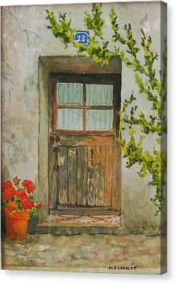 Brittany  Door Canvas Print by Mary Ellen Mueller Legault