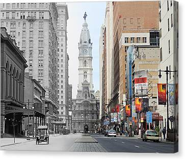 Broad And Locust Canvas Print