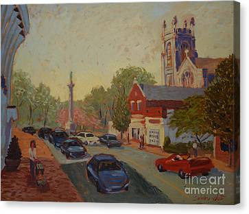 Broad St Westfield  Canvas Print by Monica Caballero