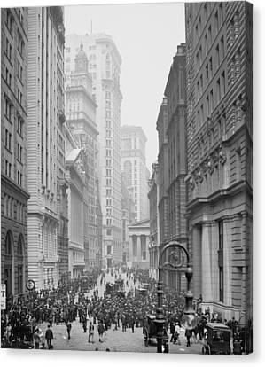 Broad Street, New York City, C.1905 Bw Photo Canvas Print by Detroit Publishing Co.