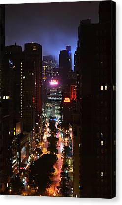 Broadway And 72nd Street At Night Canvas Print