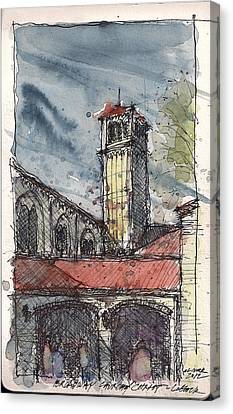Canvas Print featuring the mixed media Broadway Church Of Christ Study by Tim Oliver
