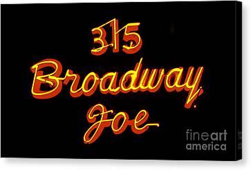 Broadway Joe Canvas Print