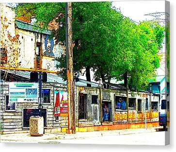 Broadway Oyster Bar With A Boost Canvas Print