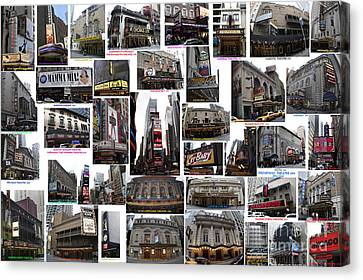 Broadway Theatre Collage Canvas Print by Steven Spak