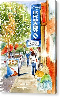 Broadway Theatre - Saskatoon Canvas Print by Pat Katz