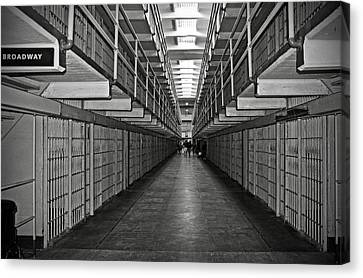 Broadway Walkway In Alcatraz Prison Canvas Print