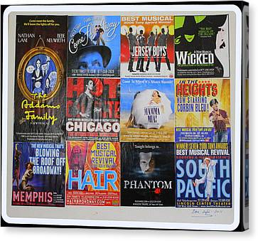 Broadway's Favorites Canvas Print by Dora Sofia Caputo Photographic Art and Design
