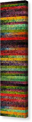Brocade And Stripes Tower 1.0 Canvas Print by Michelle Calkins
