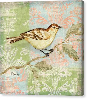 Brocade Songbird I Canvas Print by Paul Brent