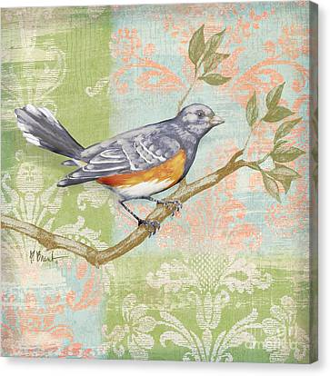 Brocade Songbird Iv Canvas Print by Paul Brent