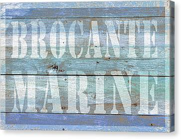 Brocante Marine Canvas Print