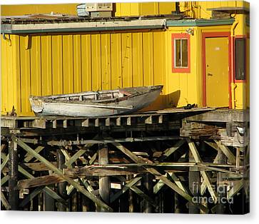Broken Boat Fisherman's Wharf Canvas Print by James B Toy