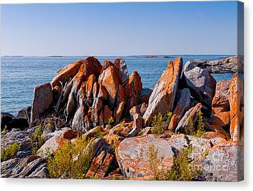 Broken Boulders Canvas Print by Les Palenik