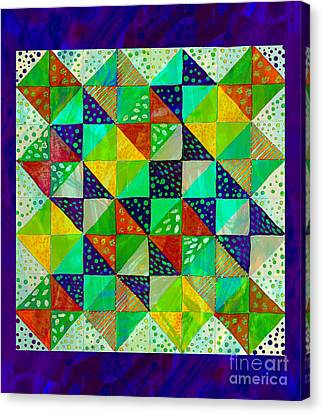 Broken Dishes - Quilt Pattern - Painting 3 Canvas Print by Barbara Griffin