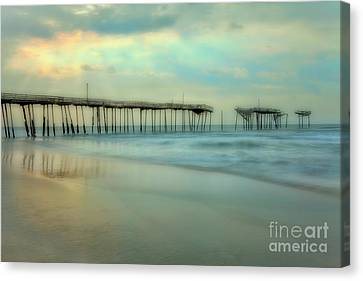 Broken Dreams - Frisco Pier Outer Banks II Canvas Print by Dan Carmichael