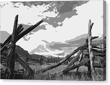 Broken Fence Canvas Print by Jack McAward