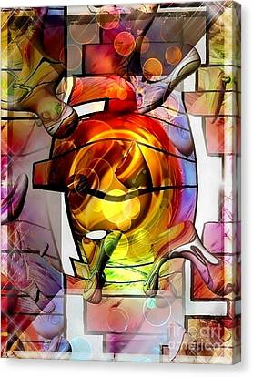 Broken Glass By Nico Bielow Canvas Print