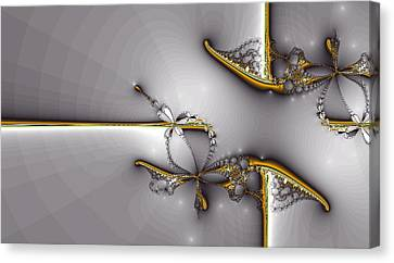 Broken Jewelry-fractal Art Canvas Print