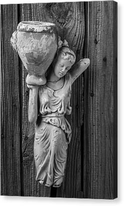 Broken Lady Statue Canvas Print by Garry Gay