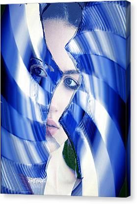 Broken Mirror Broken Dreams Canvas Print by Seth Weaver