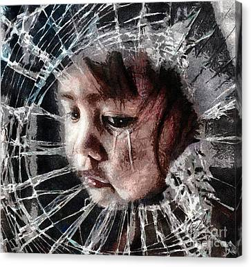 Broken Canvas Print by Mo T