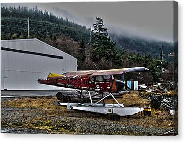 Canvas Print featuring the pyrography Broken Plane by Timothy Latta