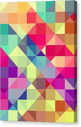 Geometric Canvas Print - Broken Rainbow II by VessDSign