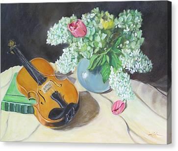 Broken Strings Canvas Print by Jean Costa