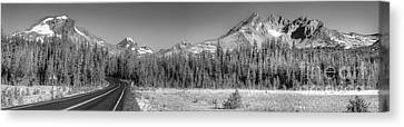 Broken Top And South Sister Canvas Print by Twenty Two North Photography