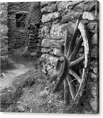 Broken Wheel - Ireland Canvas Print by Mike McGlothlen