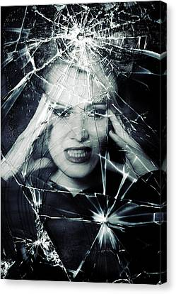 Broken Window Canvas Print by Joana Kruse