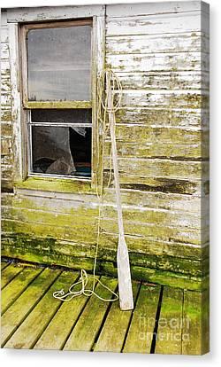 Broken Window Canvas Print by Mary Carol Story