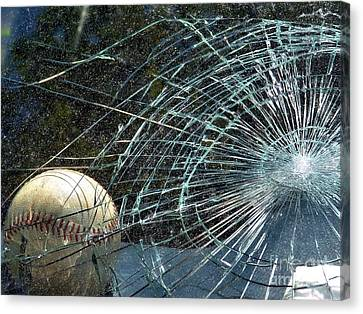 Canvas Print featuring the photograph Broken Window by Robyn King