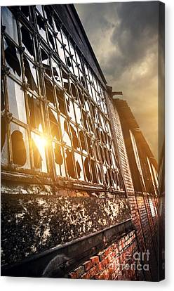 Broken Windows Canvas Print by Carlos Caetano