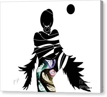 Canvas Print featuring the digital art Broken Wings by Ann Calvo