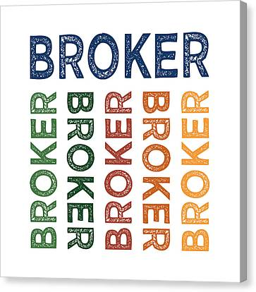 Broker Cute Colorful Canvas Print
