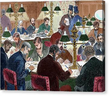 Brokers Working Nineteen-century Canvas Print