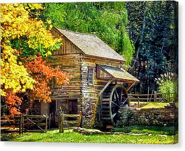 Bromley Mill At Cuttalossa Farm Canvas Print by Carolyn Derstine