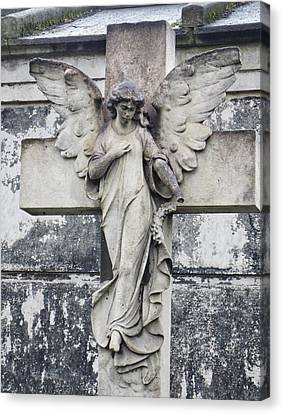 Brompton Cemetery Angel Canvas Print by Gia Marie Houck