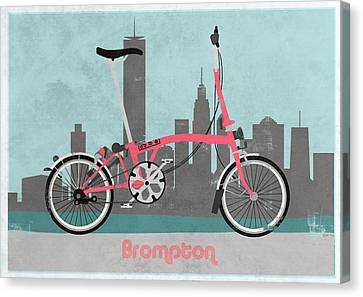 Brompton City Bike Canvas Print by Andy Scullion