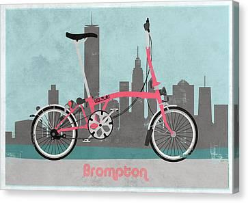 Brompton City Bike Canvas Print