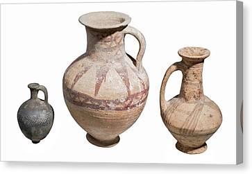 Bronze Age Terra-cotta Juglets Canvas Print