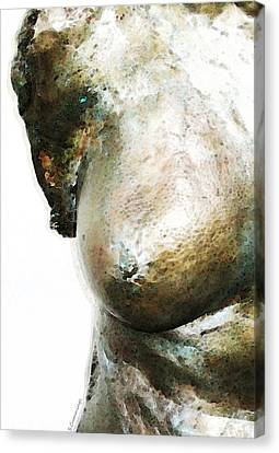 Bronze Bust 1 Canvas Print by Sharon Cummings