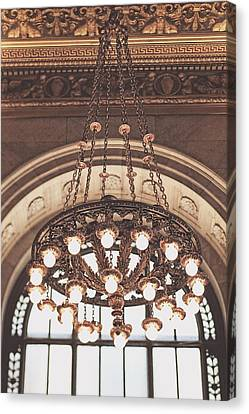 Canvas Print featuring the photograph Bronze Chandelier by Heather Green