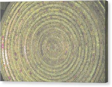 Bronze Gold Ripples Canvas Print by ARTography by Pamela Smale Williams